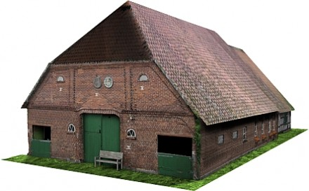 3D model of a farm house sub