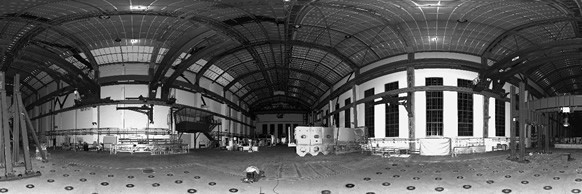 3D-Laserscan of a heritage-protected industrial hall